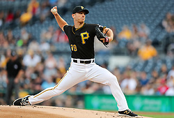 Jun 15, 2018; Pittsburgh, PA, USA; Pittsburgh Pirates starting pitcher Chad Kuhl (39) throws a pitch during the first inning against the Cincinnati Reds at PNC Park. Mandatory Credit: Ben Queen-USA TODAY Sports