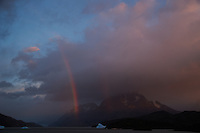 Early Morning Rainbow, Lago Grey, Torres del Paine, Chile. Image taken with a Nikon D3s and 28-120 mm f/4 lens (ISO 200, 31 mm, f/5.6, 1/25 sec).