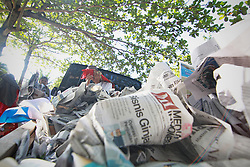 June 15, 2018 - Yogyakarta, Special Region of Yogyakarta, Indonesia - Pile of newspapers which is used as the prayer mats for Muslim festival of Eid Al-Fitr is celebrated in Yogyakarta which marks the end of the fasting month of Ramadan. (Credit Image: © Rizqullah Hamiid Saputra/Pacific Press via ZUMA Wire)