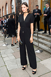 © Licensed to London News Pictures. 17/09/2016. LILAH PARSONS arrives for the JULIEN MACDONALD Spring/Summer 2017 show. Models, buyers, celebrities and the stylish descend upon London Fashion Week for the Spring/Summer 2017 clothes collection shows. London, UK. Photo credit: Ray Tang/LNP