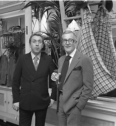 Left to right, KEN FLEETWOOD and HARDY AMIES photographed in March 1977.