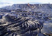 Pahoehoe Lava flow, Kilauea Volcano, Island of Hawaii