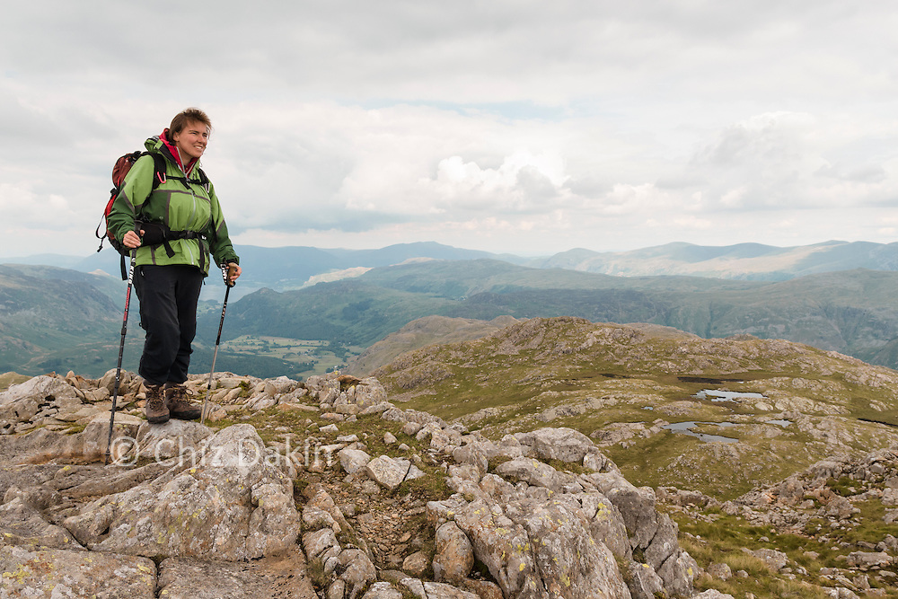 On the (fractionally higher) second summit of Glaramara (Rosthwaite Fell and Derwent Water in the background)