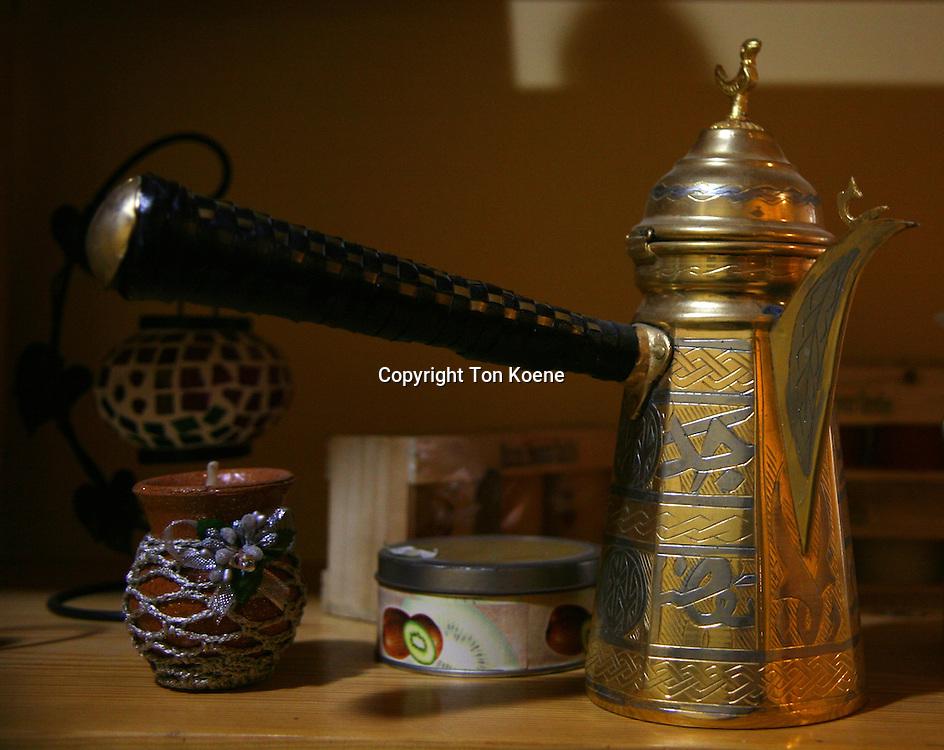 Traditional tea and coffee set in Amman, Jordan
