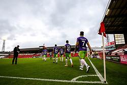Bristol City enter the pitch at Barnsley - Mandatory by-line: Robbie Stephenson/JMP - 17/10/2020 - FOOTBALL - Oakwell Stadium - Barnsley, England - Barnsley v Bristol City - Sky Bet Championship