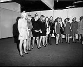1969 -  Selecting models for 6th Irish Export Fashion Fair