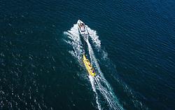 THEMENBILD - Touristen auf einem Bananenboot am Zeller See, aufgenommen am 24. Juli 2019 in Zell am See, Österreich // People riding a banana boat on the Zeller Lake, Zell am See, Austria on 2019/07/24. EXPA Pictures © 2019, PhotoCredit: EXPA/ JFK