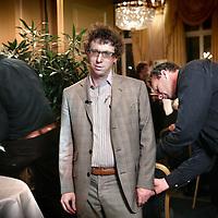 Nederland.Amsterdam.7 mei 2007..Schrijver Arnon Grunberg wint de Libris Literatuurprijs 2007..Writer Arnon Grunberg gets the Libris Literature Prize 2007.