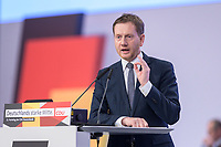 22 NOV 2019, LEIPZIG/GERMANY:<br /> Michael Kretschmer, CDU, Ministerpraesident Sachsen, haelt eine Rede, CDU Bundesparteitag, CCL Leipzig<br /> IMAGE: 20191122-01-036<br /> KEYWORDS: Parteitag, party congress, speech