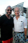 """August 27, 2016- Brooklyn, New York-United States: (L-R) Writer Emil Welbekin and Art Dealer Joacim Von Ditmar attend the 2016 AfroPunk Brooklyn Concert Series held at Commodore Barry Park on August 27, 2016 in Brooklyn, New York City. Described by some as """"the most multicultural festival in the US,"""" which includes an eclectic line-up and an audience as diverse as the acts they come to see. (Photo by Terrence Jennings/terrencejennings.com)"""