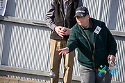 Kyle McAlwee of TImaru lines up a shot in the SIMG Petanque competition,  played at the Timaru Town and Country Club<br /> South Island Masters Games 2020<br />  Timaru<br /> 16/10/2020<br /> Photo Kevin Clarke CMGSPORT CMG SPORT<br /> ©cmgsport2020
