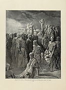 Massacre of Captives by Richard Coeur de Lion [King Richard I Lion-Heart 1157-1189] Plate XLVI from the book Story of the crusades. with a magnificent gallery of one hundred full-page engravings by the world-renowned artist, Gustave Doré [Gustave Dore] by Boyd, James P. (James Penny), 1836-1910. Published in Philadelphia 1892