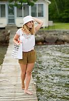 Young woman at Lake Winnisquam ©2104 Karen Bobotas Photographer