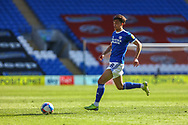 Cardiff City's Tom Sang (28) in action during the EFL Sky Bet Championship match between Cardiff City and Nottingham Forest at the Cardiff City Stadium, Cardiff, Wales on 2 April 2021.