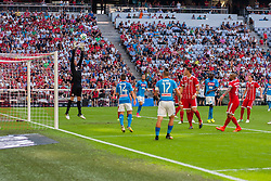 August 2, 2017 - Munich, Germany - Kalidou Koulibaly of Naples scores first goal during the Audi Cup 2017 match between SSC Napoli and FC Bayern Muenchen at Allianz Arena on August 2, 2017 in Munich, Germany. (Credit Image: © Paolo Manzo/NurPhoto via ZUMA Press)