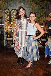 Left to right, CELIA MUÑOZ, Founder of La Coqueta Kids and Writer, homecook and author SKYE McALPINE at the launch of the House of Hackney La Coqueta childrens' fashion collectection held at House of Hackney, 131 Shoreditch High Street, London on 23rd April 2016.