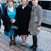 BEL/Brussel/20130319- Uitreiking Prinses Margriet Award 2013, aankomst, Prinses Margriet, Laurentien en Astrid