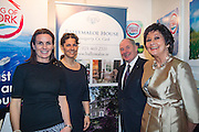NO FEE PICTURES<br /> 23/1/16 Minister for Tourism Michael Ring and Maureen Ledwith, organiser of the Holiday World Show at the Ballymaloe House stand at the Holiday World Show at the RDS in Dublin. Picture: Arthur Carron