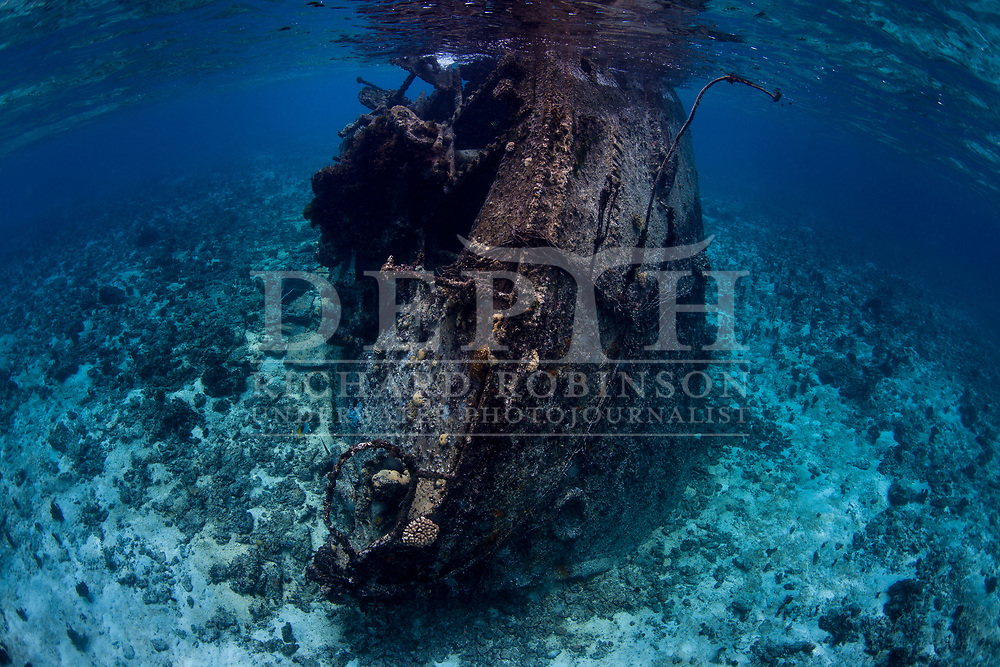 Wreck of the  Coomondeery a 132-tonne, 110- foot steamship, later converted to diesel auxiliary in Australia,  was wrecked on North Minerva Reef in 1969. <br /> January 2015