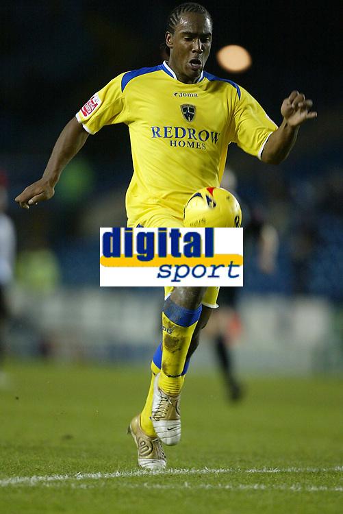 Photo: Aidan Ellis.<br /> Sheffield Wednesday v Cardiff City. Coca Cola Championship. 09/11/2005.<br /> Cardiff's Cameron Jerome breaks through to score the third
