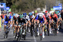 March 15, 2019 - Brignoles, France - BRIGNOLES, FRANCE - MARCH 15 : BENNETT Sam (IRL) of BORA - HANSGROHE wins before DEMARE Arnaud (FRA) of GROUPAMA - FDJ and TRENTIN Matteo (ITA) of MITCHELTON - SCOTT during stage 6 of the 2019 Paris - Nice cycling race with start in Peynier and finish in Brignoles  (176,5 km) on March 15, 2019 in Brignoles, France, 15/03/2019 (Credit Image: © Panoramic via ZUMA Press)
