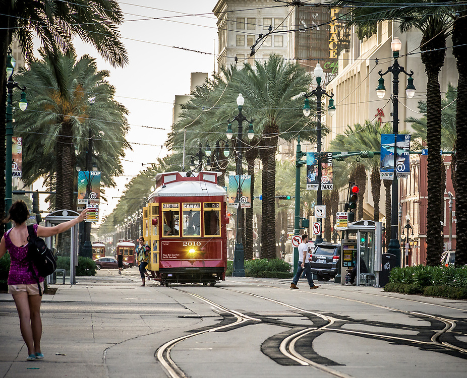 The air conditionned tramway can take you anywhere in town