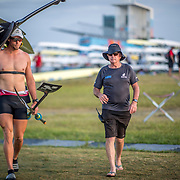 Robbie Manson New Zealand Mens Single Scull with Noel Donaldson (New Zealand coach)<br /> <br /> Qualification heats at the World Championships, Sarasota, Florida, USA Monday 25 September 2017. Copyright photo © Steve McArthur / Rowing NZ