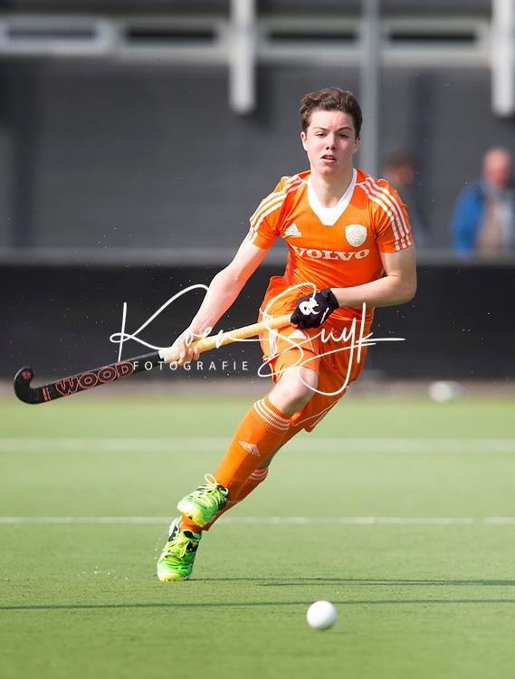 AMSTELVEEN - Samuel van Huiden.  Oefenwedstrijd tussen het Nederlands Team Jongens B tegen Bloemendaal A1. COPYRIGHT KOEN SUYK