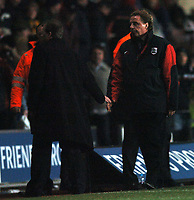 Photo: Javier Garcia/Back Page Images<br />Southampton v Middlesboro, FA Barclays Premiership, St Mary's Stadium 11/12/04<br />A devastated Harry Redknapp can barely shake hands with Steve McLaren at full time
