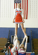 S.S. Seward cheerleaders perform during halftime of a boys' basketball game against Roscoe in Florida on Friday, Jan. 30, 2009.