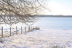 ©London News Pictures. 27/11/2010. Rutland Water seen in the snow this Saturday. Temperatures are expected to stay low throughout the weekend, and further snow is expected for many parts of the UK.  Photo credit should read Tim Goode/London News Pictures