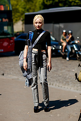 Street style, Calista Cuaca arriving at Off White Spring-Summer 2019 menswear show held at Palais de Chaillot, in Paris, France, on June 20th, 2018. Photo by Marie-Paola Bertrand-Hillion/ABACAPRESS.COM