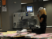 The City of Milwaukee's absentee ballots are sorted, processed and scanned in a high speed optical scanner at the Central Count location. Municipalities such as Milwaukee that use central count are required to post the number of absentee ballots that have been mailed or transmitted to voters and the numbers that have been returned by the close of Election Day.