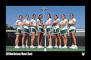 2011 Miami Hurricanes Women's Tennis Team Photo