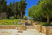 Israel, Upper Galilee, Kfar Baram (Bar'am), is the site of an ancient Jewish village. It is situated near to the site of Kafr Bir'im or Kafar Berem, a medieval Maronite Christian village. 3 kilometers from the Lebanese border. Ruins of the third century CE synagogue