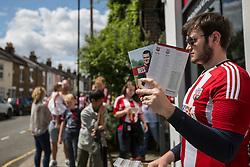 Brentford fans begin to arrive as programs go on sale - Mandatory by-line: Jason Brown/JMP - Mobile 07966 386802 25/07/2015 - SPORT - FOOTBALL - Brentford, Griffin Park - Brentford v Stoke City - Pre-Season Friendly