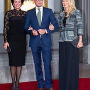 NLD/Amsterdam/20150926 - Afsluiting viering 200 jaar Koninkrijk der Nederlanden, aankomst Prinses Annette Sekreve and prins Bernard en prinses Mabel