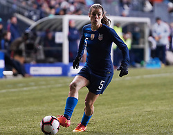 February 28, 2019 - Chester, United States - Kelley O'Hara of The United States on the ball.during the She Believes Cup football match between The United States and Japan at Talen Energy Stadium on February 27, 2019 in Chester, Pennsylvania, United States. (Credit Image: © Action Foto Sport/NurPhoto via ZUMA Press)