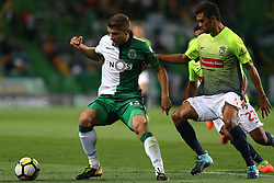 September 19, 2017 - Lisbon, Lisbon, Portugal - Sportings defender Stefan Ristovski from Macedonia (L) and Maritimo's defender Pablo Santos from Brazil (R) during the Portuguese Cup 2017/18 match between Sporting CP v CS Maritimo, at Alvalade Stadium in Lisbon on September 19, 2017. (Credit Image: © Dpi/NurPhoto via ZUMA Press)