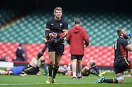 Dan Biggar of Wales looks on during the Wales rugby captains run training session at the Millennium Stadium in Cardiff ,South Wales on Friday 4th Sept  2015. The team are preparing for their next RWC warm up match against Italy tomorrow.  pic by Andrew Orchard, Andrew Orchard sports photography.