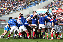 March 16, 2019 - Rome, RM, Italy - France and Italy players fight for the ball during the Six Nations International Rugby Union match between Italy and France at Stadio Olimpico on March 16, 2019 in Rome, Italy. (Credit Image: © Danilo Di Giovanni/NurPhoto via ZUMA Press)