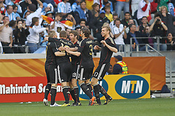 03.07.2010, CAPE TOWN, SOUTH AFRICA, , Germany celebrate after scoring the opening goal during the Quarter Final, Match 59 of the 2010 FIFA World Cup, Argentina vs Germany held at the Cape Town Stadium. EXPA Pictures © 2010, PhotoCredit: EXPA/ nph/  Kokenge