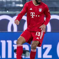 21.11.2020, Allianz Arena, Muenchen, GER,  FC Bayern Muenchen SV Werder Bremen <br /> <br /> <br />  im Bild Eric Maxim Choupo-Moting (FCB #13) <br /> <br />  ,Ball am Fuss, Hochformat Einzelaktion, Ganzkörper / Ganzkoerper <br /> <br /> Foto © nordphoto / Straubmeier / Pool/ <br /> <br /> DFL regulations prohibit any use of photographs as image sequences and / or quasi-video.