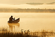 Canoeing on Lake of Two Rivers<br />Algonquin Provincial Park <br />Ontario<br />Canada
