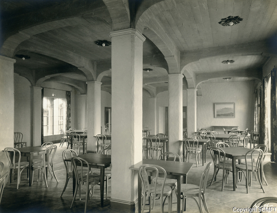 1926 Dining room at the Hollywood Studio Club on Lodi Pl.