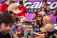 #7 (SAKAKIBARA Saya) AUS signing autographs during Round 9 of the 2019 UCI BMX Supercross World Cup in Santiago del Estero, Argentina