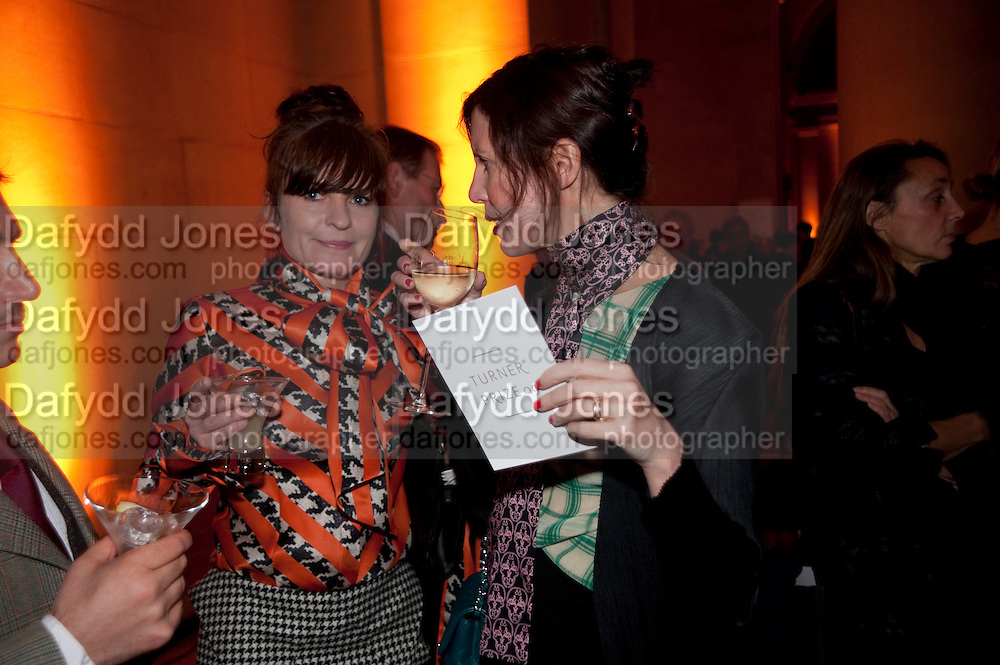 GOSHKA MACUGA; VALERIA NAPOLEONE, Turner prize 2009. Tate Britain. Millbank. London. 7 December 2009