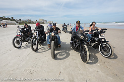 Getting out on the beach during the Daytona Bike Week 75th Anniversary event. FL, USA. Thursday March 3, 2016.  Photography ©2016 Michael Lichter.