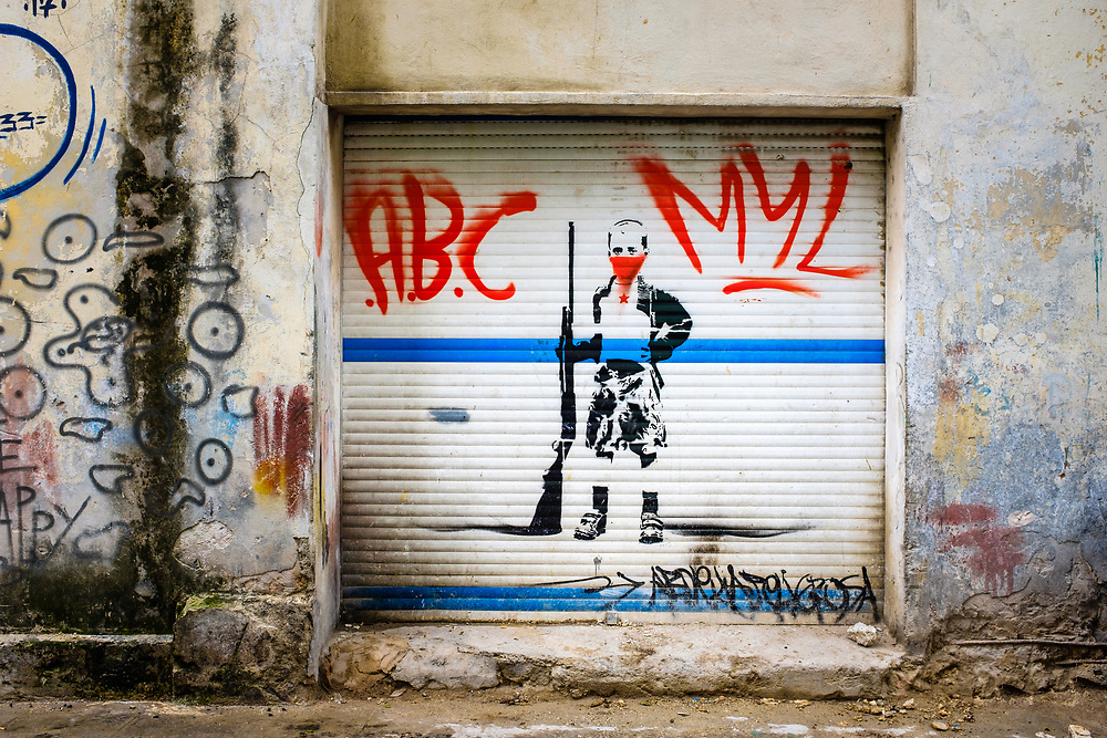 HAVANA, CUBA - CIRCA October 2017: Graffiti art in the streets of Havana