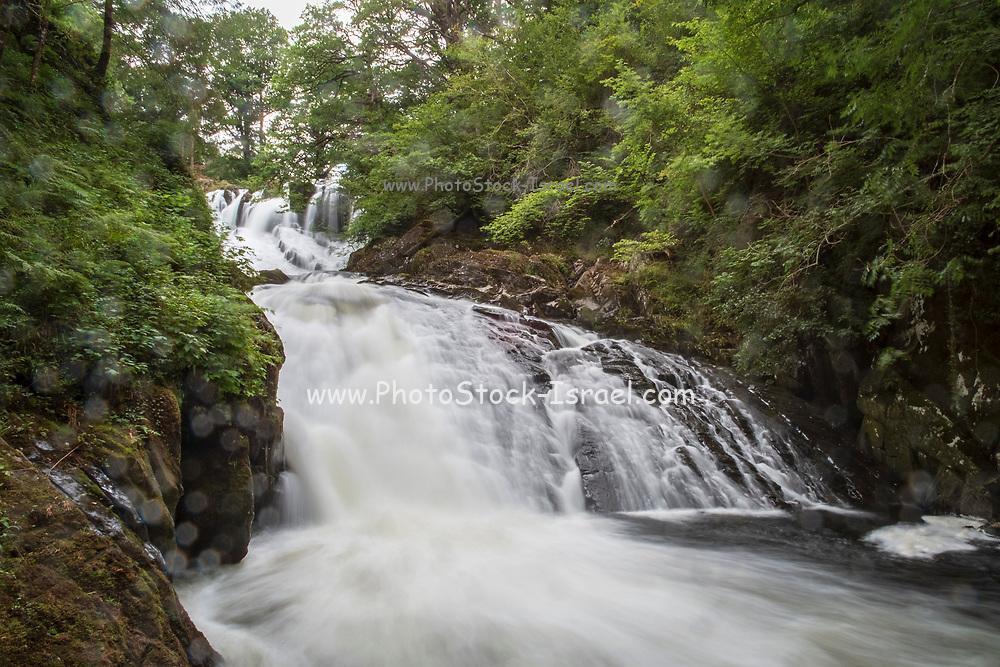 Swallow Falls, on the Afon Llugwy near Betws-y-Coed, Snowdonia National Park, Wales, UK
